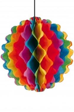 Striscione festa globo colorato di carta a soffietto