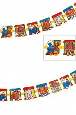 Striscione festa bambini trenino del circo
