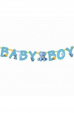 Striscione nascita bambino baby boy azzurro