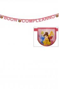 Striscione festa compleanno bimba principesse disney