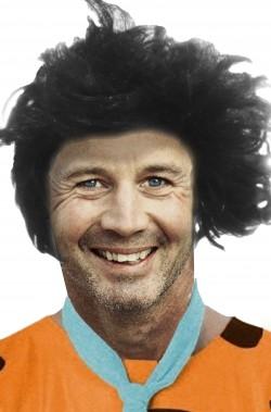 Parrucca nera acconciatura alla Fred Flintstone
