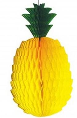 Festone decorativo ananas gigante 52cm x 28cm