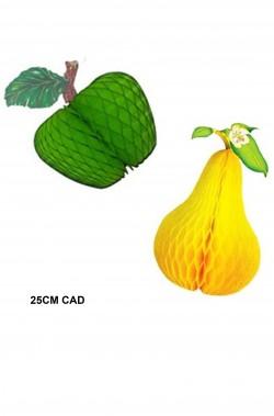Festone da festa della frutta pera e mela 25cm cad