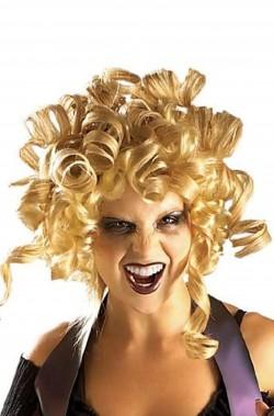 Parrucca bionda con boccoli spirito folle