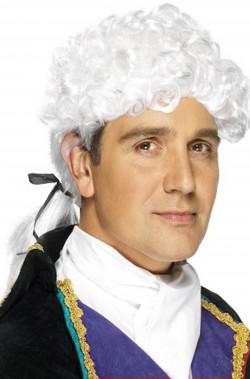 Parrucca bianca corta con...