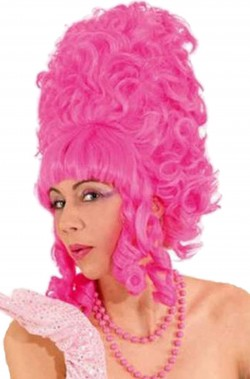 Parrucca rosa alta Drag Queen priscilla regina del deserto