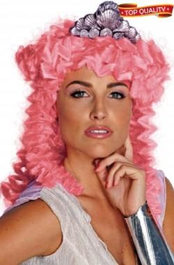 Parrucca rosa mossa lunga effetto capelli veri dea greca