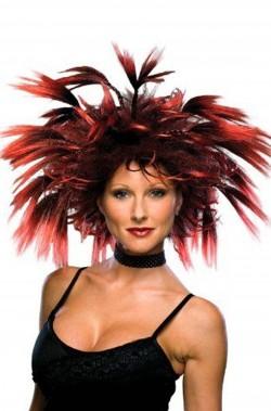 Parrucca rossa e nera...