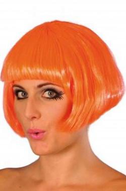 Parrucca donna arancione corta a caschetto