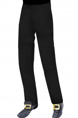 Pantaloni teatrali neri da uomo con elastico in vita