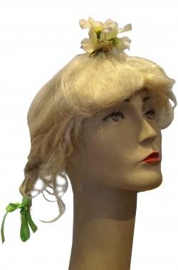 Parrucca donna bionda corta con trecce modello greta