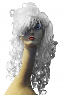 Parrucca bianca manga con...