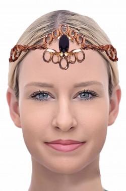 Corona da regina degli elfi di metallo con pietra finta