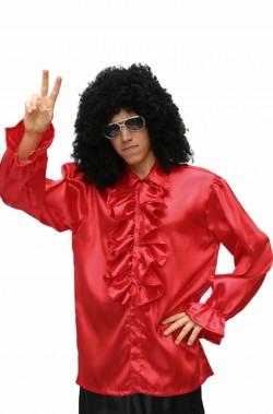 Camicia uomo anni 70 rossa colletto con le punte