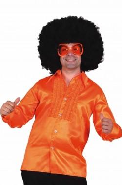 Camicia uomo anni 70 arancio