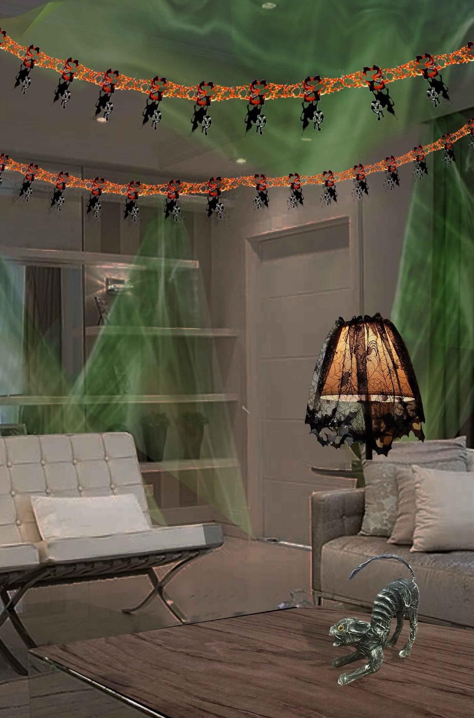 Pacchetto risparmio decorazioni halloween casa i gatti neri