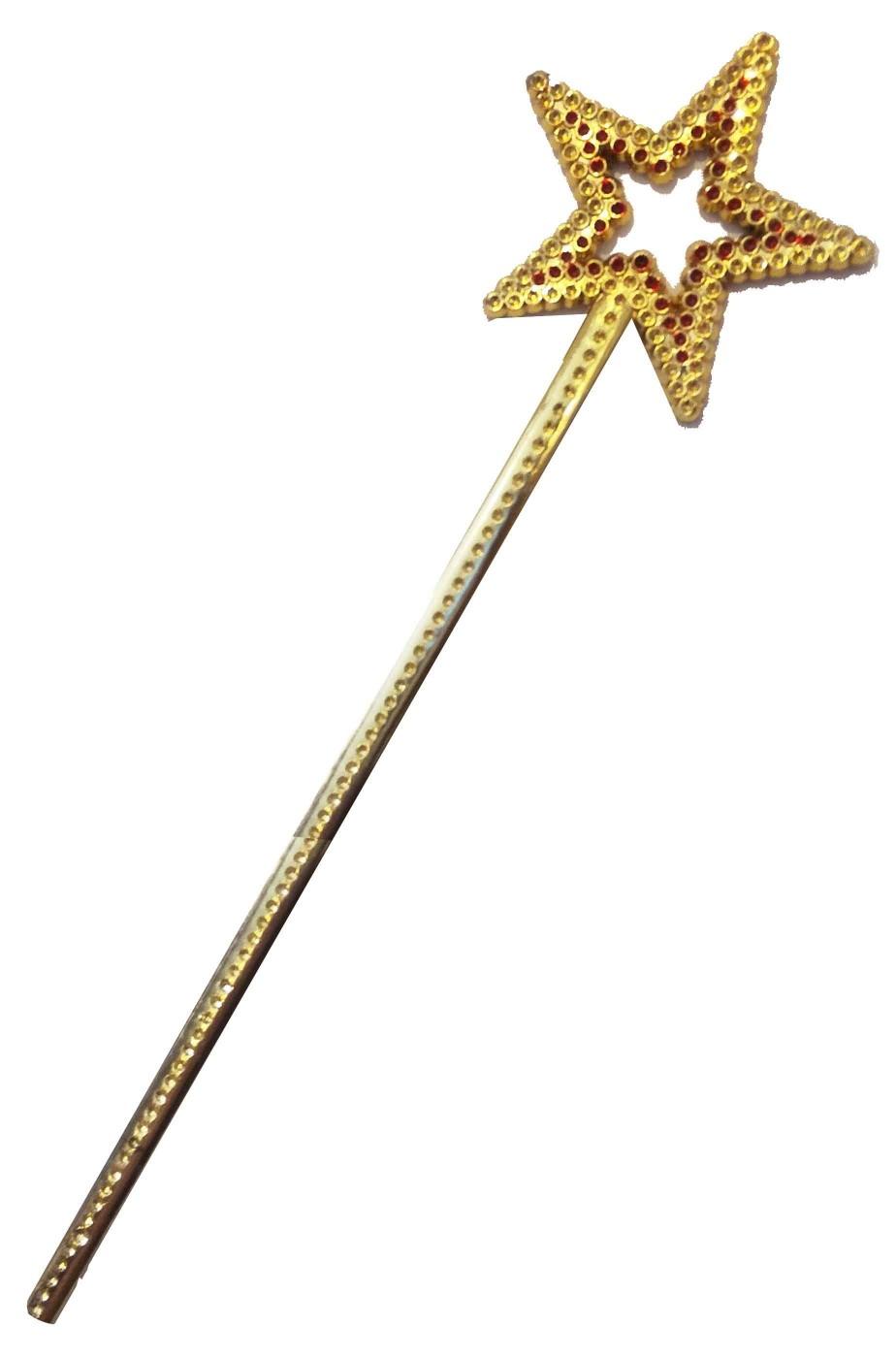 Bacchetta magica da principessa con stella oro
