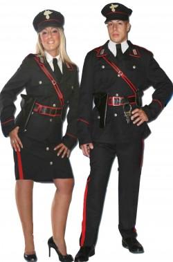 Coppia di costumi divisa da carabinieri italiani uomo e donna