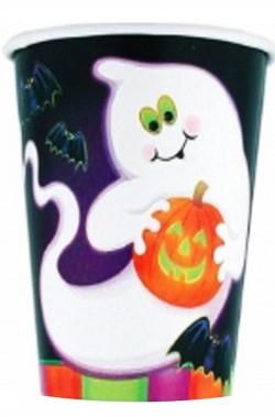 Bicchieri di carta festa di Halloween spiritosa fantasmino