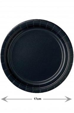 Piatti di carta neri da antipasto o dolce 17cm