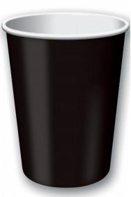 Bicchieri di carta neri per festa e party