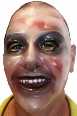Maschera Halloween trasparente da vampiro zombie