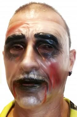 Maschera Halloween zombie trasparente