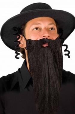 Cappello e barba da rabbino ebreo ortodosso