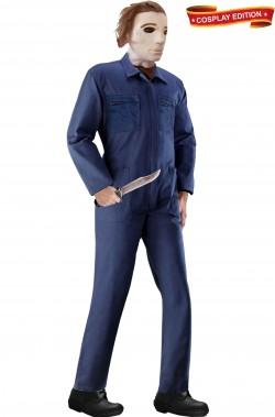 Vestito cosplay Michael Myers con tuta vera maschera e coltello