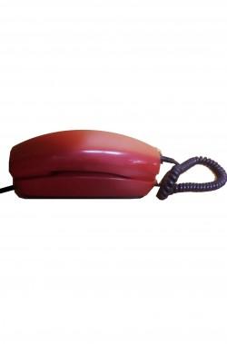 Telefono rosso gondola vintage a disco SIP anni 80 fisso