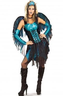 Costume donna fata sirena blu
