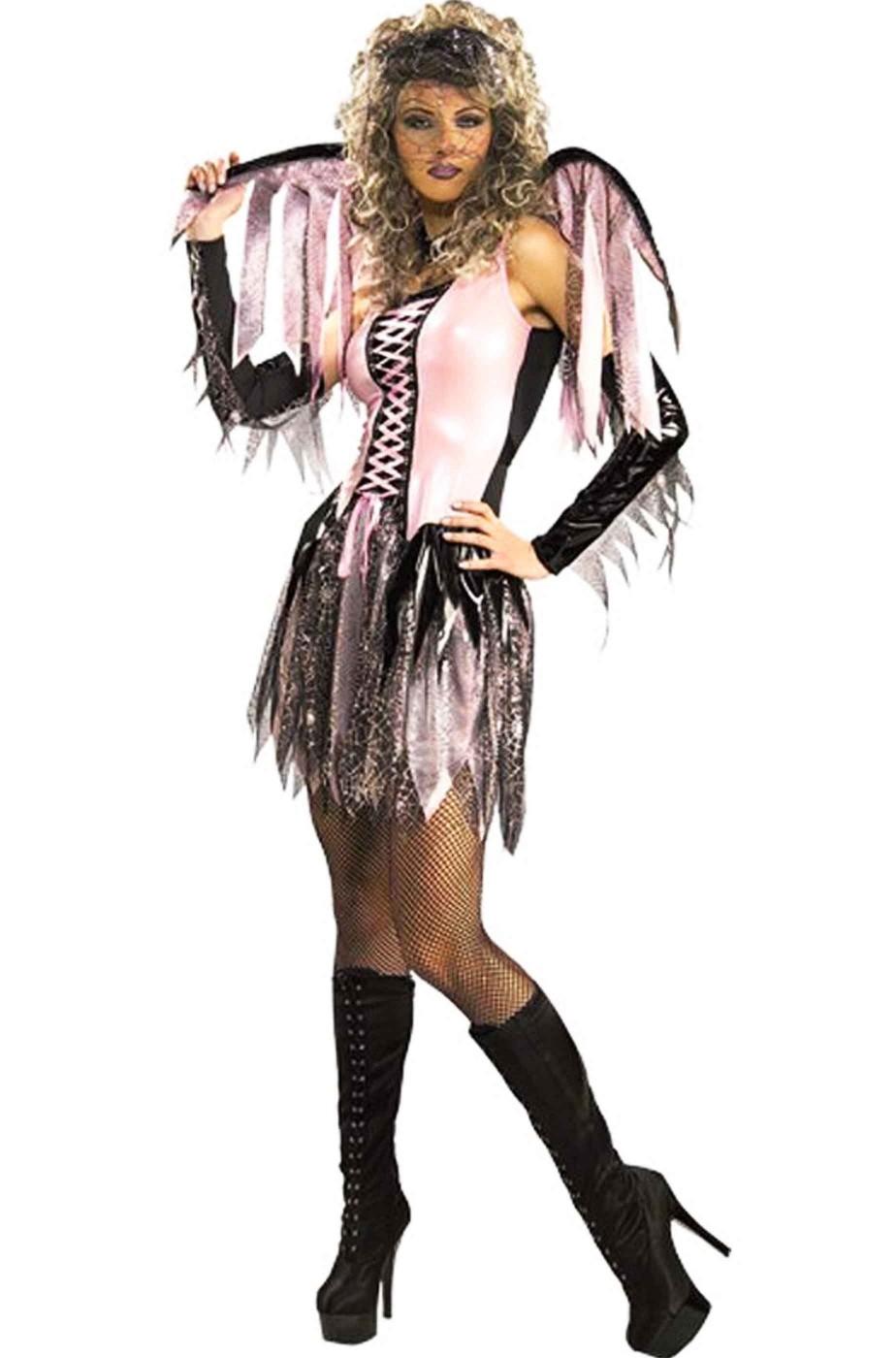 Vestito di carnevale da fata rosa adulta