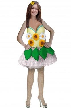 Vestito di carnevale donna da giardino di fiori