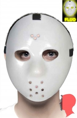 Maschera Halloween Hockey jason Fluorescente