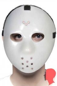 Maschera da viso venerdì jason da hockey fosforescente