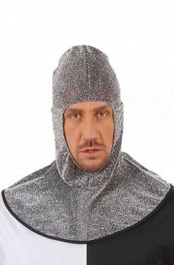 Cappello elmo di cotta di maglia finta da cavaliere medievale