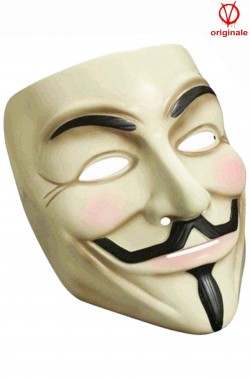 Maschera film V Per Vendetta Anonymous vista laterale