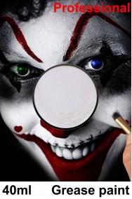 Trucco da clown bianco cerone