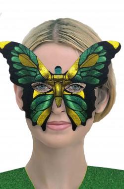 Maschera di carnevale verde farfalla