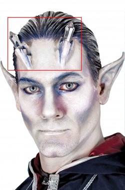 Corna per cosplay elfo di cristallo con luci