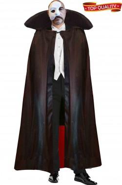 Mantello nero cappa di raso con interno rosso alta qualita'