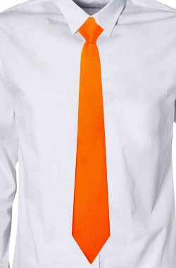 Cravatta arancione elegante larghezza media