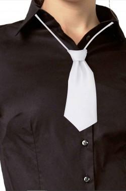 Cravattina bianca da donna cravatta annodata con elastico