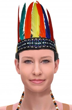 Piume da indiana colorate copricapo da squaw