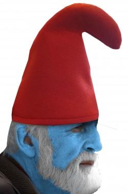Cappello rosso grande puffo a punta