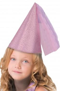 Cappello da fata rosa dama rinascimentale