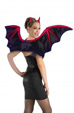 Ali da pipistrello Halloween nere e rosse