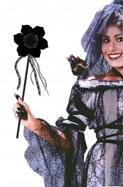 Bacchetta magica nera da strega o fantasma