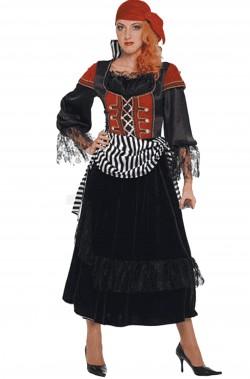 Vestito di carnevale da Piratessa De Luxe Angelica