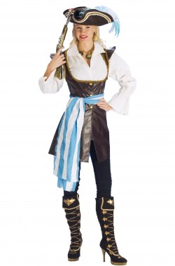 Costume piratessa corsara in finta pelle